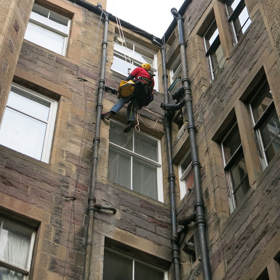 Example of building maintenance in Edinburgh