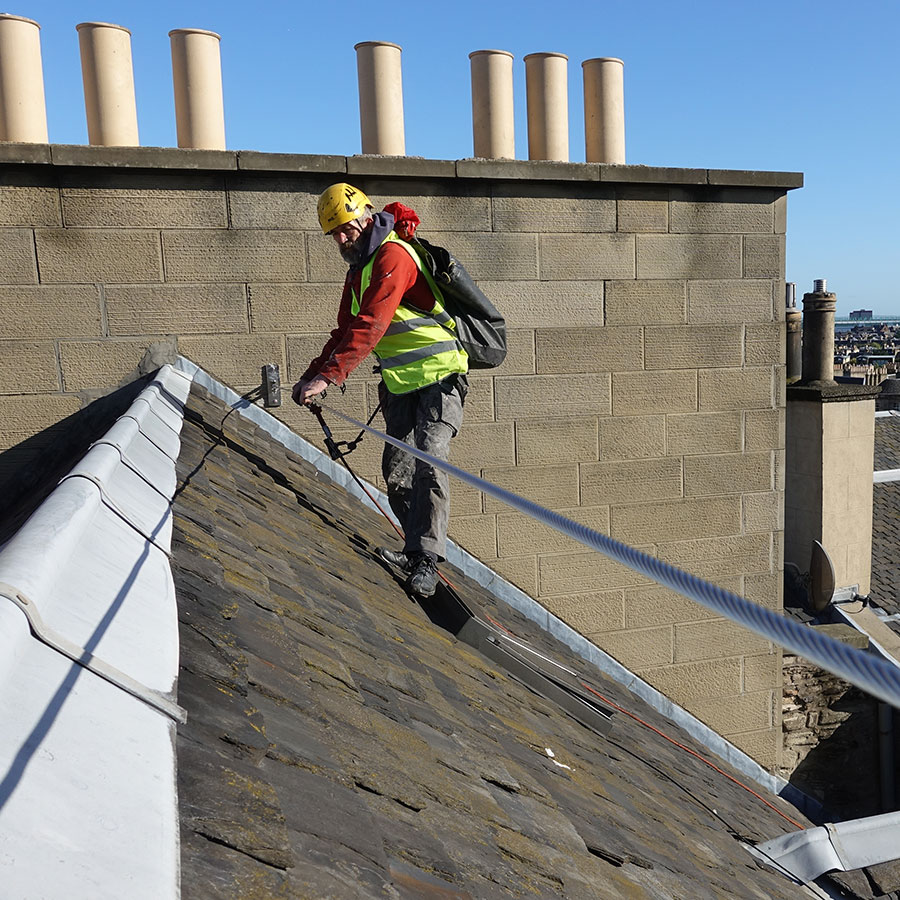 Example of cladding installation in Edinburgh roof