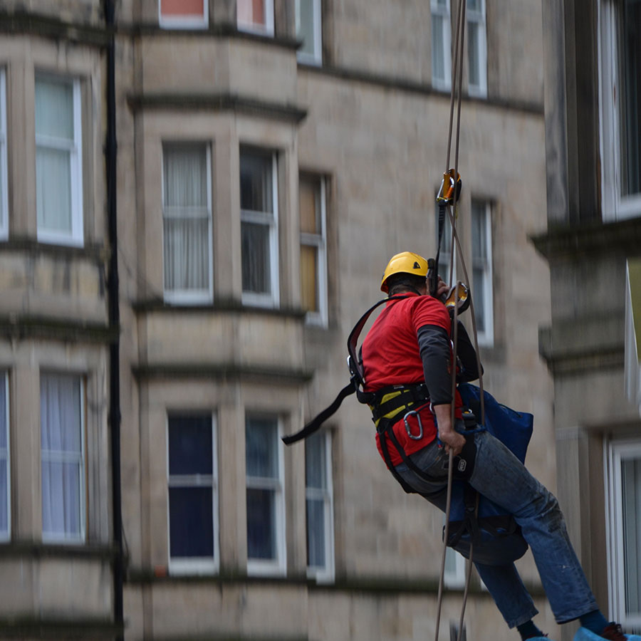 rope access roffing example
